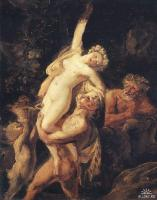 Сатир и вакханка, 1824, Брюллов