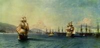 Черноморский флот в Феодосии (И.К. Айвазовский, 1890 г.)