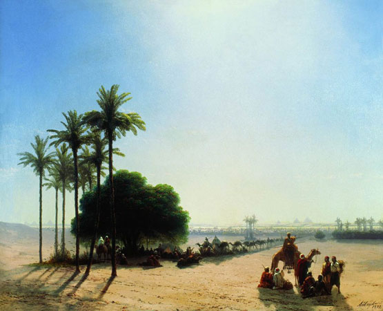 Караван в оазисе. Египет. (Айвазовский И.К.)