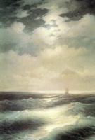 Морской вид при луне (И.К. Айвазовский)