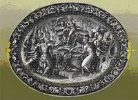 Блюдо с изображением Аполлона с музами