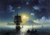 Лунная ночь на Капри (И.К. Айвазовский)