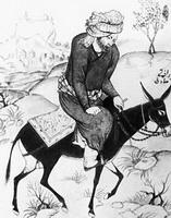 Мужчина на осле (А. Садиги-бек)