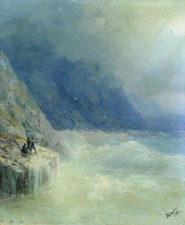 Скалы в тумане. (Айвазовский И.К.)