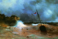 Конец бури на море (И.К. Айвазовский)