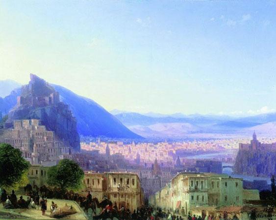 Вид Тифлиса от Сейд-Абада. (Айвазовский И.К.)