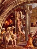 Часть настенной фрески Рафаэля Пожар в Борго
