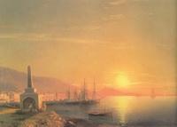 Восход солнца в Феодосии (И.К. Айвазовский)