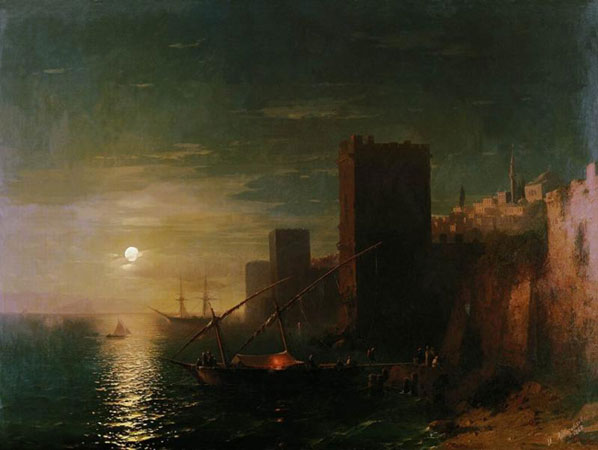 Лунная ночь в Константинополе. (Айвазовский И.К.)