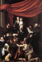 Мадонна Розария (Мадонна с чётками). 1607. Вена.