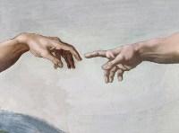 Сотворение Адама - Деталь Одухотворение - Микеланджело
