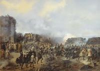 Бой на Малаховом кургане в Севастополе в 1855 году (Г.Ф. Шукаев, 1856 г.)