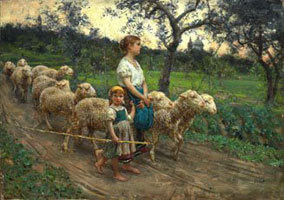 Пастушка со стадами (Ф.П. Микетти)