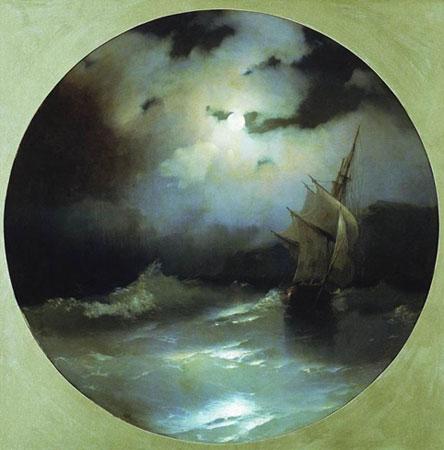Море в лунную ночь. (Айвазовский И.К.)
