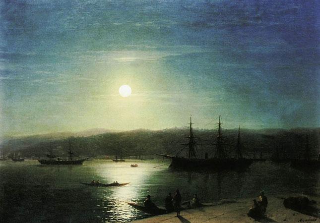 Босфор в лунную ночь. (Айвазовский И.К.)