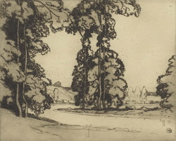 На берегу реки Сены (А. Ист, 1913 г.)