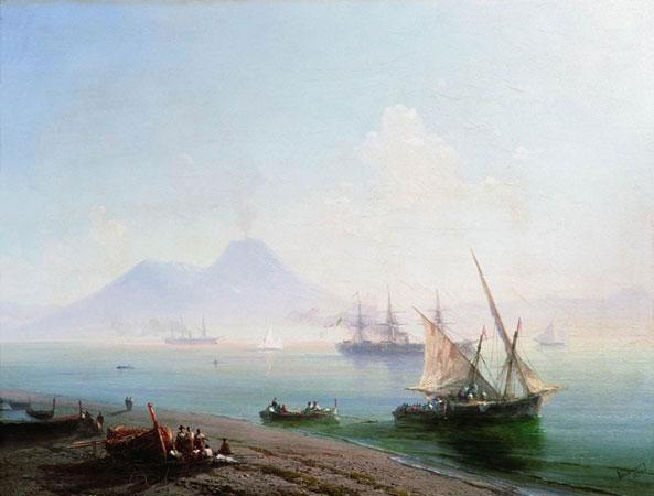 Берег Неаполя. Вид Везувия. (Айвазовский И.К.)
