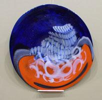 Тарелка (гутное стекло)