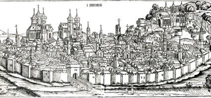 Вид города Эрфорда (Я. Франк-Дитрих, гравюра)