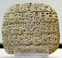 Шумерская клинопись (ок. 2600 г. до н.э.)