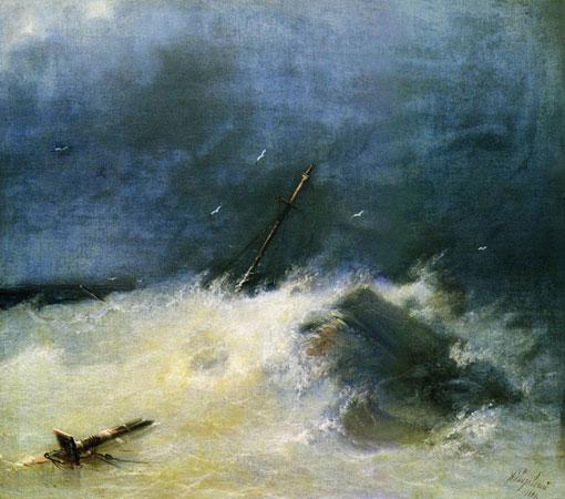 Буря на море. (Айвазовский И.К.)