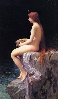 Пандора с ларцом (Ж.Ж. Лефевр)