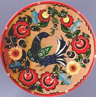 Блюдо (Городецкая роспись)