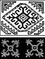 Мотивы орнамента киргизов
