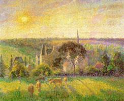 Сельская местность. Церковь и ферма в Энраньи (К. Писсаро)