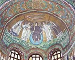 Церковь Сан-Витале в Равенне. 526-47. Мозаика купола