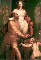 Афродита и Гефест (Б. Шпрангер)