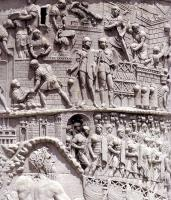 Рельеф колонны Траяна. II в. Фрагмент.