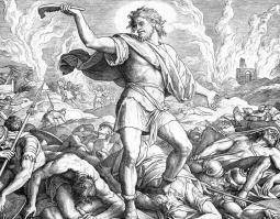 Самсон поражает филистимлян ослиной челюстью