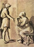 Герой и Сибилл (Уго да Карпи)