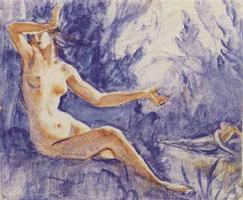 Нарцисс и нимфа Эхо (Зинаида Серебрякова)