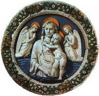 Мадонна с младенцем (Лука делла Робиа, 1455 г.)