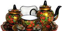 Старинный русский чайный сервиз