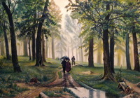 Реплика по картине И.И. Шишкина Дождь в дубовом лесу (С. Кузнецов)