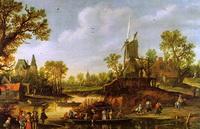 Речной ландшафт (Ян ван Гойен)