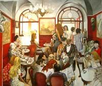 Кафе Греко в Риме (Ренато Гуттузо)