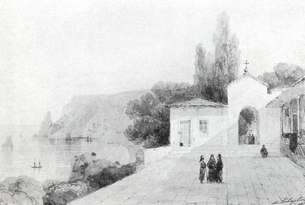 Вид Георгиевского монастыря. (Айвазовский И.К.)