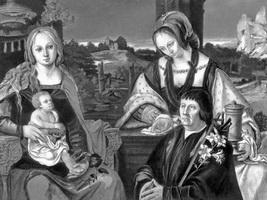Богоматерь с младенцем, Магдалина и донатор (1522 г.)