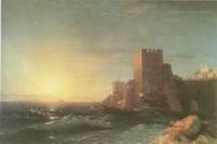 Башни на скале у Босфора (И.К. Айвазовский)