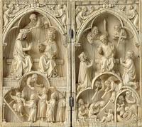 Диптих Страшный Суд (слоновая кость, 1250-1270 г.)