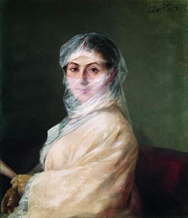 Портрет жены художника Анны Бурназян.